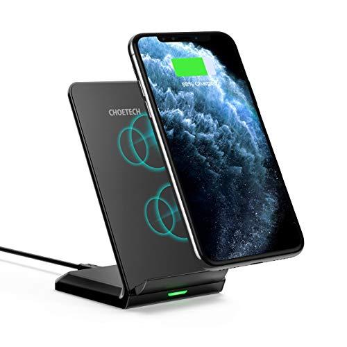 Cargador Inalámbrico Rápido CHOETECH,Wireless Charger Qi de Soporte para Samsung Galaxy S10 Plus/S9…