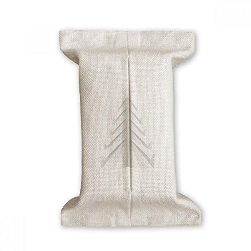 DIYthinker Abstracto Blanco del árbol de Navidad de Origami de Papel de Tejido de algodón Cubierta de Lino del almacenaje del sostenedor del envase Regalo 17x27cm