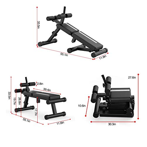 Adjustable Weight Bench - Foldable Sit Up Bench - 3 in 1 Dumbbells Bench - Incline Decline Flat Abs Bench | Home Gym Flat Fly Weight Press Fitness - Utility Weight Bench for Full Body Workout