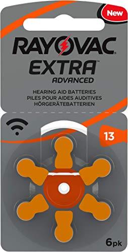 60 Stück (10 Blister) Rayovac Typ 13 Hörgerätebatterie Zinc Air P13 PR48 ZL2 mit 2 Stück LUXTOR® Reinigungstücher für Hörgeräte und Otoplastiken