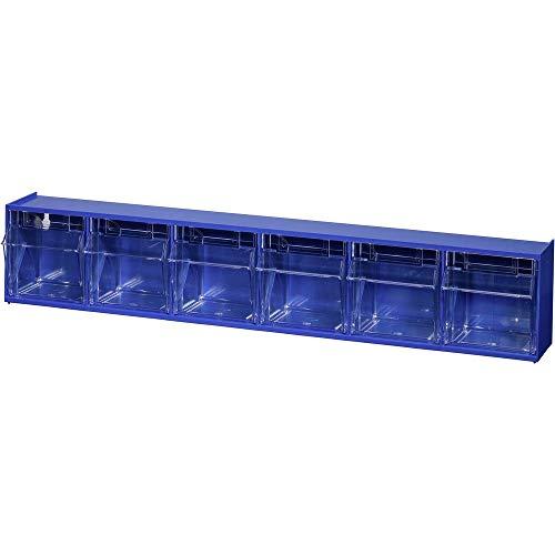 Preisvergleich Produktbild Allit 464440 Klappkasten-Magazin VarioPlus ProFlip 6 (B x H x T) 600 x 115 x 95 mm Blau,  Transparent 1 St.