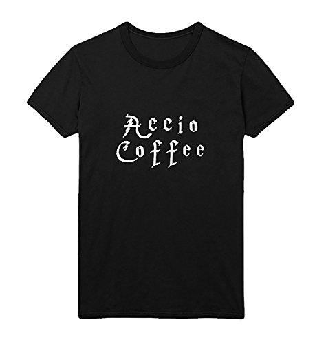 Accio Coffee Addict Starbucks Harry Potter Herren Men Men's T-Shirt Black Shirt Baumwolle Cotton Herren SM Men's Black T-Shirt