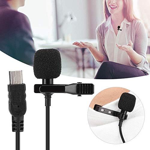 USB-microfoon Camera Omnidirectionele condensatormicrofoon Clip op reversmicrofoon voor live uitzending Opname Interview Uitzending, opname, YouTube