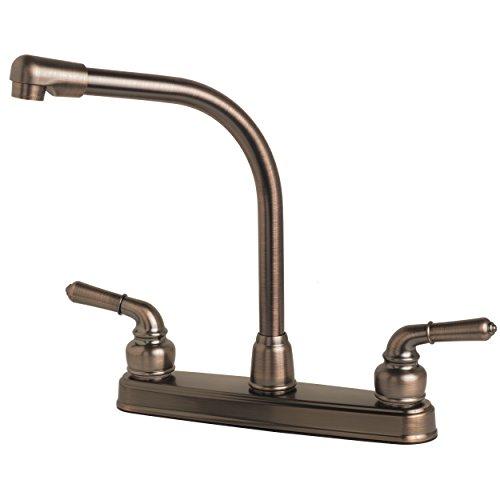 Laguna Brass 1200BZ RV/Motorhome Two Handle Non-Metallic High Rise Swivel Kitchen Faucet, Brushed Bronze Finish