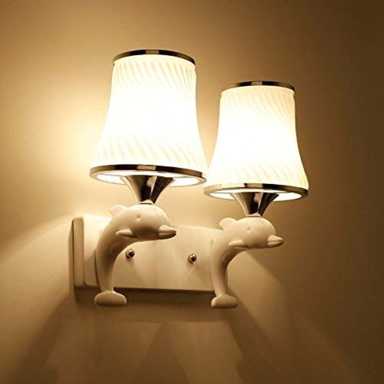 HhGold Die Nachttischlampe Wandleuchte Wand Schlafzimmer Modern, minimalistischen American Creative Lounge Continental Treppe, Lampe, LED Street 4 (Farbe   7)
