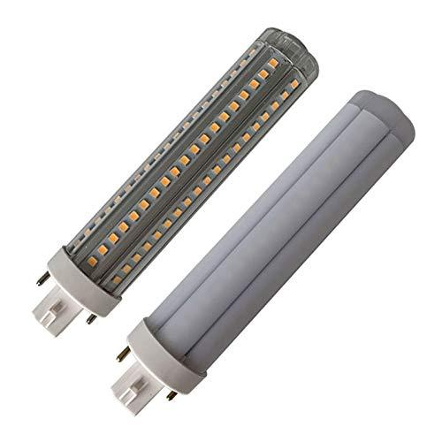 PARA DORMITORIO 100 FT 2PCS E14 G24 LED/Luz Del Maíz De 12W 360 Grados Insertan Horizontalmente Cantidad Lámparas De Iluminación Casa (Color : White)