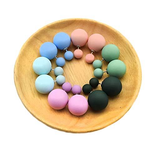 HLWJ Hundido 6 Pares de aretes de Pernos de Color Mixto. (Color : 3)