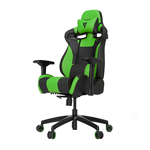 VERTAGEAR S-Line 4000 Gaming Chair, Medium, Black/Green black chair gaming