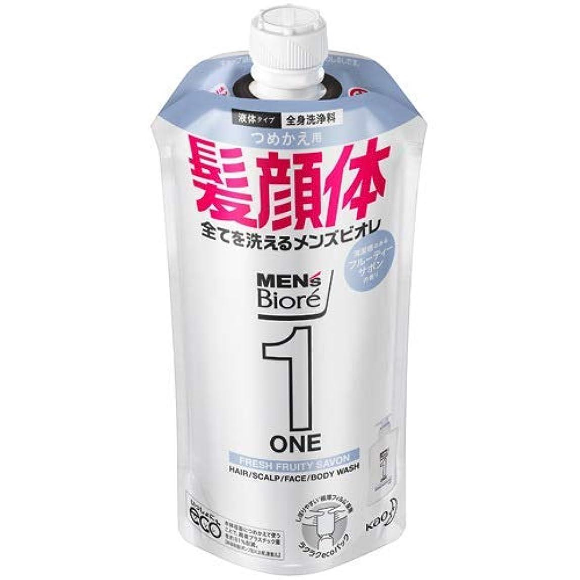 泣き叫ぶアテンダント堀【10個セット】メンズビオレONE オールインワン全身洗浄料 清潔感のあるフルーティーサボンの香り つめかえ用 340mL