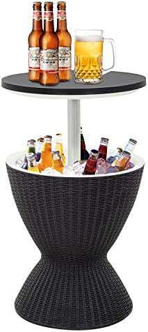 Cool Bar Cooler Table Outdoor Patio Furniture and Hot Tub Side Table 3in1 All Weather Cool Wicker product image
