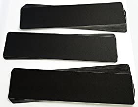 Non-Slip Black Stair Treads (25 Pack), Strong Adhesive Heavy Duty 80 Grit, Pre-Cut Commercial Grade, 6in x 24in Premium Quality Slip Resistant. Rounded Corners. Roller Included.