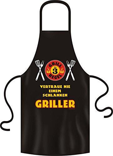 Fun Grillschuerze Grill Regel Nr. 3 Vertraue nie einem schlanken Griller!