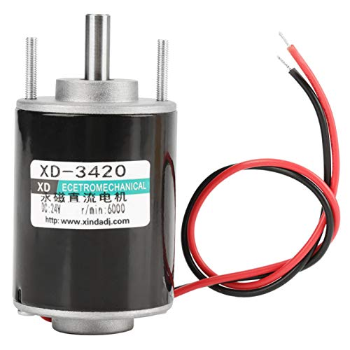 12/24V 30W Cepillo magnético permanente de eje hueco Motor DC Velocidad generador de Motor eléctrico ajustable(24 V)