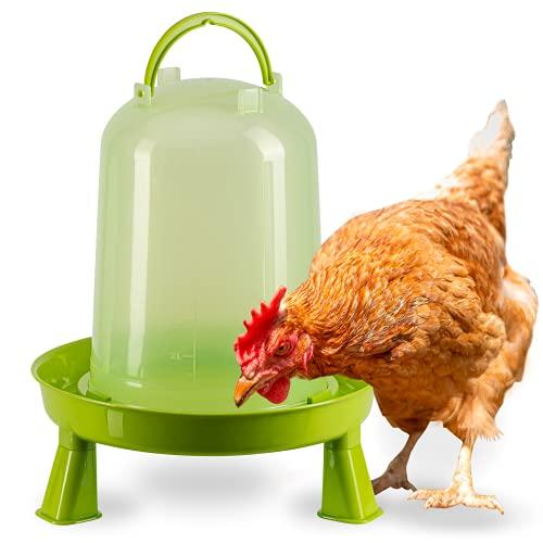 FARMZ - Bebedero para gallinas con patas de plástico, automático para la Cría de Pollos comedero para aves de corral