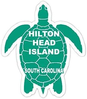 R and R Imports Hilton Head Island South Carolina Souvenir 4 Inch Green Turtle Shape Decal Sticke