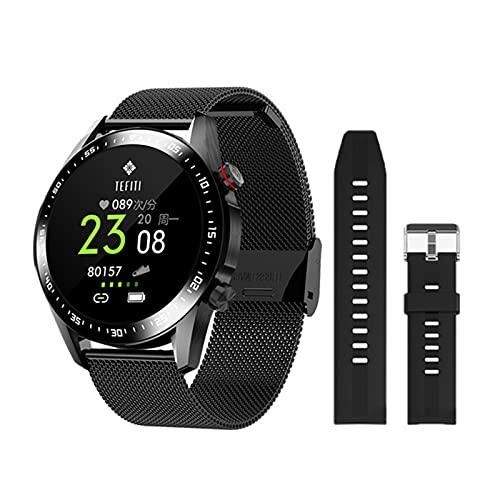 ZGLXZ Reloj Inteligente De Ritmo Cardíaco, Hombres DIY Reloj Faces 1,28 Pulgadas Touch Fitness Tracker Bluetooth Llame A Smartwatch para Android iOS,J