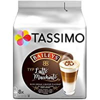 Tassimo - Capsulas de cafe Latte Macchiato Baileys - Paquete de 5 (Total de 80 recipientes, 40 Porciones)