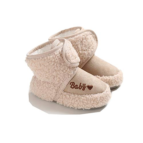 Neugeborene Baby Winter Booties Boy Girl Kinderbett Kinderschuhe Soft Snow Boots (Aprikose, 13)