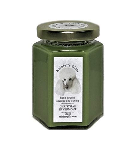 Rainier's Gifts Scented Candles Soy Wax Aromatherapy - CHRISTMAS IN VERMONT - Spruce Pine Cedar, 6 oz/170 g, 25-35 Hours Average Burn Time