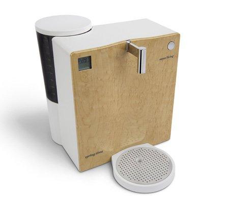 Mobiler Wasserfilter Aqua Living Springtime 420 Classic Wurzelholzoptik hell Umkehrosmose-Technik
