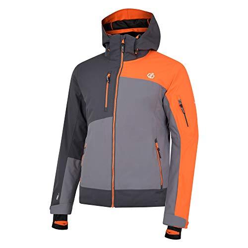 Dare 2b Travail Pro Herren Skijacke / Snowboardjacke mit abnehmbarer Kapuze und Schneefang, wasserdicht XL Aluminium/Ebony Grey