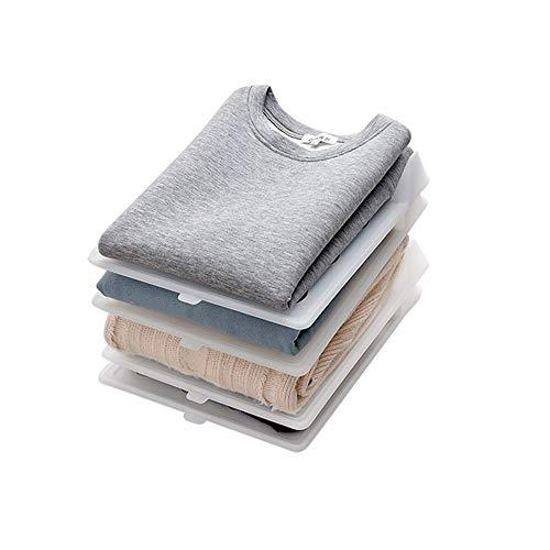Baffect Plegable Organizadores de Armario Camisa de la Camisa, Conjunto de 5 Camisetas Divisor Organizador de la estantería Cajón de Armario Ropa de lavandería Camisa de la Carpeta Plegable Junta (L)