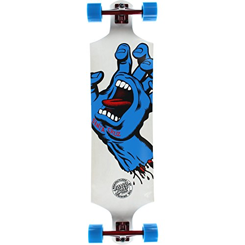 "Santa Cruz Skateboards Screaming Hand White Complete Skateboard - 10"" x 40"""