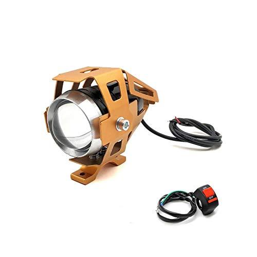 U5 12V Motocicleta LED LED de conducción Faro Foot Light Light Lámpara Auxiliar para TMAX500 MAX 500 TMAX 530 2001-2019 (Color : 1 Piece Gold)