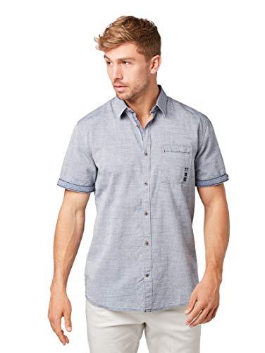 TOM TAILOR herenblouses, shirts & overhemd met korte mouwen met borstzak