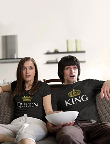 2 Year Dating Anniversary Gift Ideas for Him - King & Queen Matching Couple Set