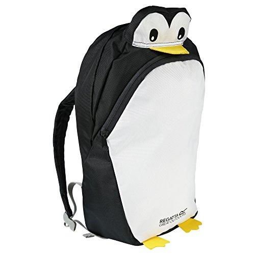 Regatta - Great Outdoors - Zephyr - Zaino per Bambini (Taglia unica) (Pinguino - Cenere)