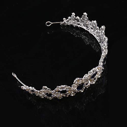 RK-HYTQWR Tiaras y Coronas para Mujeres Desfile Reina Corona Cristal Tiara Diadema Barroco Tocado de Novia, Tocado para Mujeres