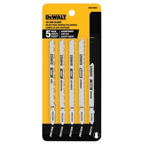 DEWALT Jigsaw Blades Set, T-Shank, 5-Piece (DW3795H)