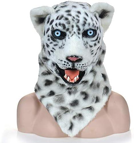 SRY-masks Mouth Can Move Bouche Mobile Réaliste Animal Masque Léopard des Neiges Masque Costume De voiturenaval des Animaux Masques ( Couleur   blanc , Taille   2525 )