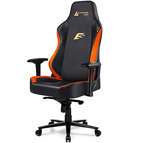 GTRACING Gaming Chair ACE Series Big and Tall Gaming Chair 400lbs Racing Office Chair Ergonomic Computer PC Game Desk Chair with Built-in Backrest, 4D Armrests, High Backrest, Reclining, Orange