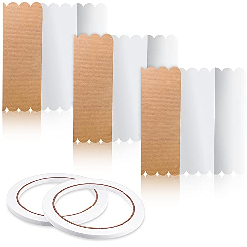3 Pieces Tri-Fold Display Board Fold Presentation Board 14 x 22 Inch White Foldable Paperboard with 2 Rolls of Double Sides Adhesive Tape