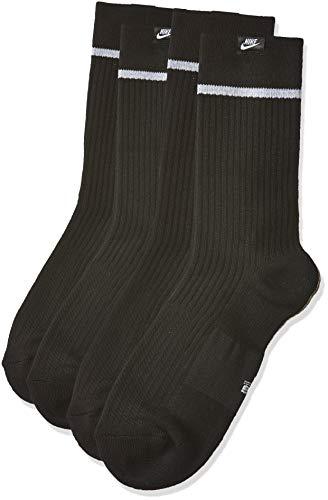 NIKE Jordan Flight Crew - Calcetines de baloncesto para hombre, Hombre, SX5854 010, black/White, M