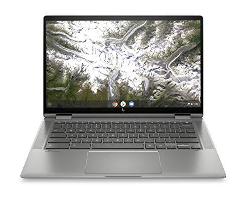 "HP-PC Chromebook X360 14c-ca0000sl Convertibile, Intel Core i3-10110U, RAM 8 GB, eMMC 128 GB, Grafica Intel UHD, Sistema Operativo Chrome OS, Schermo Touch 14"" FHD, Lettore Impronte Digitali, Argento"