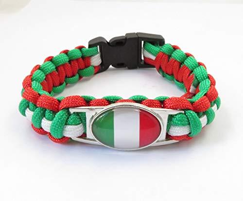 Minyose Italien Flagge Armbänder Handgefertigt Italien Paracord Armband Mode Italien Flagge Armband Italien Schmuck Geschenk