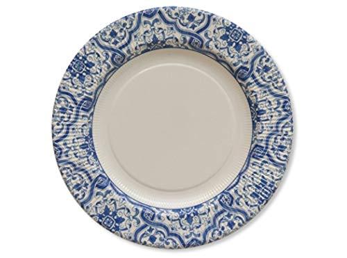 Chaks 241SG, Lot de 8 assiettes Azulejos 27CM
