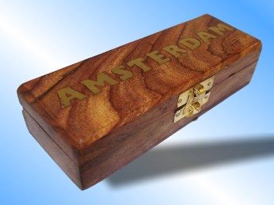 Kavataz Massivholz Smokers Rolling Box Größe 1 (Messing geprägt)