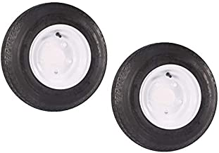 Roadstar Pair of 2 Trailer Tires & Rims 480-8 4.80-8 4.80 x 8 Load B 5 Lug/4.5