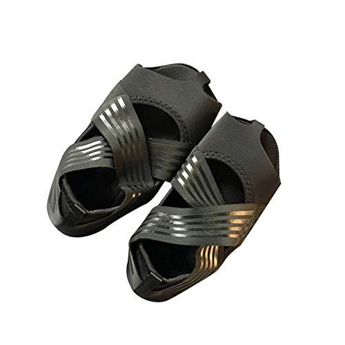 QiKun-Home Moda Mujer Antideslizante Fitness Dance Pilates Calcetines Zapatos Profesionales de Yoga para Interiores Calcetines de Vendaje elástico de Fondo Suave Negro 37/38