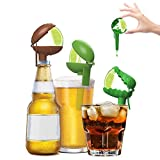 HeadLimes Clip-On Citrus Squeezer, Adds Lime or Lemon Directly to a Drink- a Fun Novelty Party Gift, Handheld Juicer or Bar Accessory, 8- Combo pack (Gator, Lime, Football Edition)