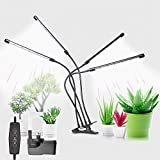 LED Grow Lights for Indoor Plants, Upgraded Version 168LED 100W Sunlight White Full Spectrum Four-Head Plant Lights,Growing Lamp for Indoor Succulent Plants Growth 5 Dimmable Levels & 4/8/12H Timer