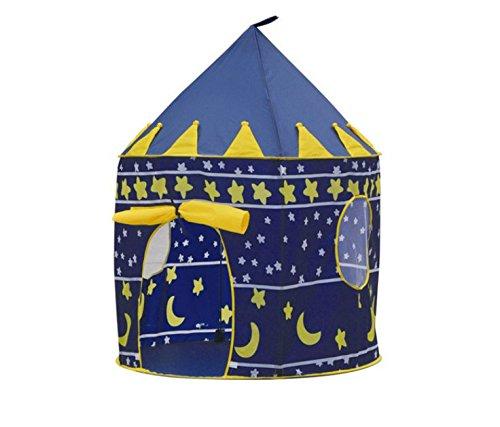 Prinz oder Prinzessin Sommer Palast Schloss Kinder Kinder spielen Zelt Haus Innen-oder Außenbereich Garten Spielzeug wendy Haus Spielhaus Strand Sonne Zelt Jungen Mädchen (Blau Prinz)