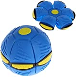 Uudxph Flying Saucer Ball Magic Deformation Light UFO with LED Light Flying Toys Magic Flying Ball Vent Ball Venting Decompression Parent-Child Toy (Blue)