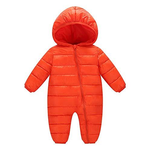 Daylin Baby Mädchen Daunenjacke Schneeanzug mit Kaputze Bekleidungsset Verdickte Winterjacke Winterhose Kleinkind Daunenhose Kinderskianzug