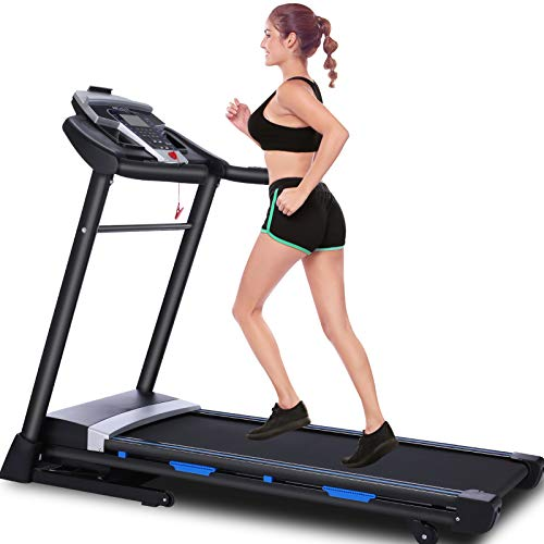 FUNMILY Folding Treadmill, 3.25Hp App Control Foldable Treadmill with Automatic Incline and Bluetooth Speaker, 300 lbs Weight Capacity, Best Walking Running Heavy Duty Treadmills for Home Gym Use