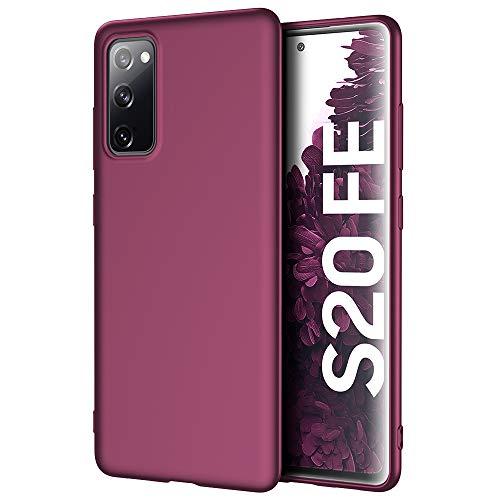 X-level Samsung Galaxy S20 FE Hülle, [Guardian Serie] Soft Flex TPU Hülle Superdünn Handyhülle Silikon Bumper Cover Schutz Tasche Schale Schutzhülle für Samsung Galaxy S20 FE 5G - Weinrot